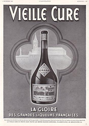 1936 Print Ad Liqueur de la Vieille Cure de l'Abbaye de Cenon, Bordeaux, France ()