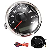 Partol Universal GPS Speedometer Gauge 85mm Waterproof Digital Odometer 160MPH for ATV UTV Car Truck Motorcycle Marine Boat