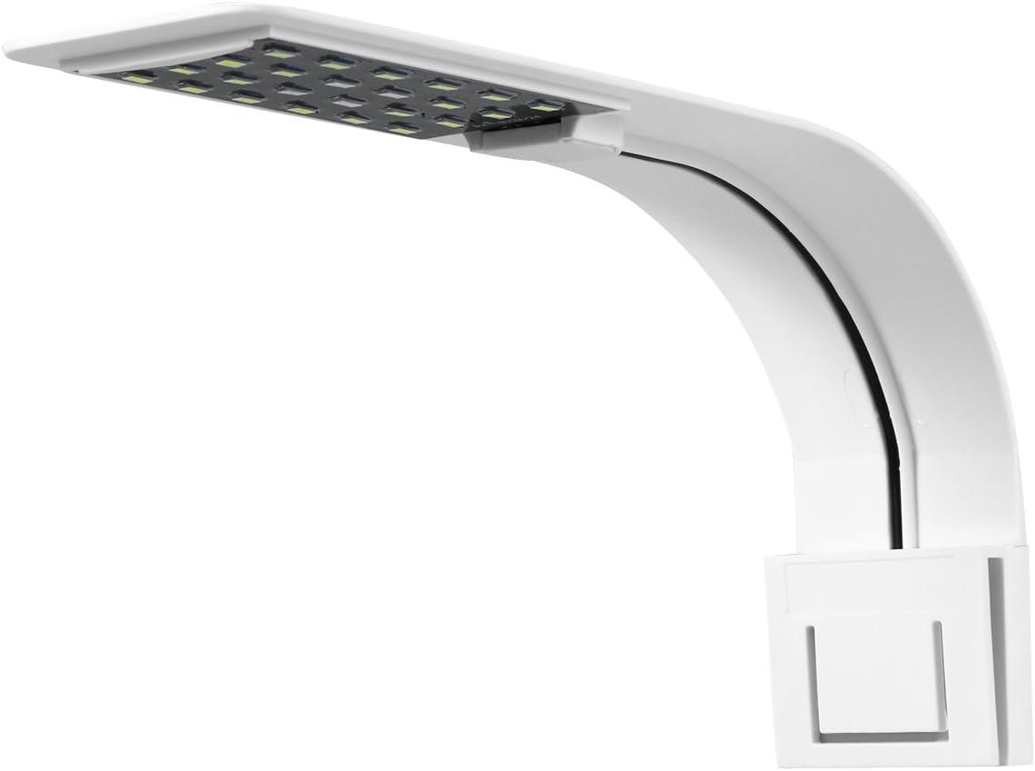 UEETEK Luz del Acuario del LED, luz de la lámpara con Clip súper Delgada