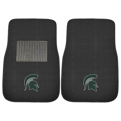 FANMATS 17603 Michigan State 2-Piece Embroidered Car (Michigan Floor)