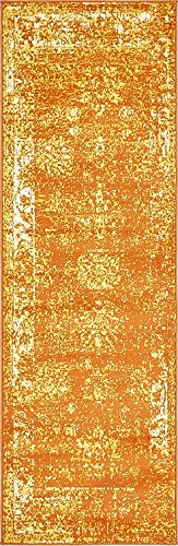 Unique Loom Sofia Collection Orange 2 x 7 Runner
