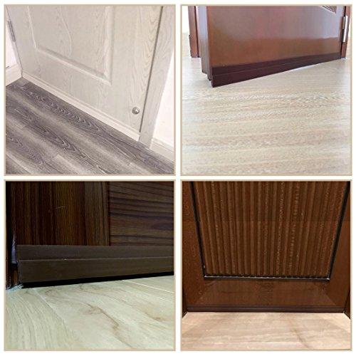 MAZU Door Bottom Seal Strip Energy & Money Saving in Winter Save Air Conditioner Cost Keep Bugs&Noise Off Under Door Sweep Weather Stripping Door Draft Stopper 2'' x 39'' (Brown) by MAZU (Image #4)