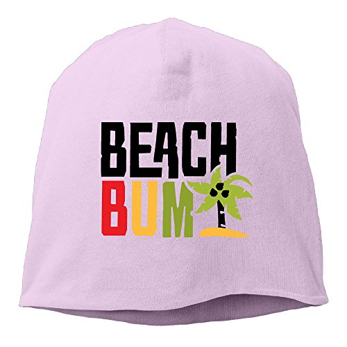 Men's Beach Bum Wig (Caryonom Adult Beach Bum Letter Beanies Skull Ski Cap Hat Pink)