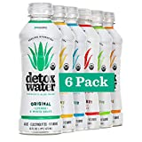 Detoxwater Organic Aloe Vera Infused Prebiotic Water - Variety   Contains Highest Quality ACTIValoe with Electrolytes, Vitamins, Antioxidants   Improves Skin Complexion   30 Calories (6 Pack)