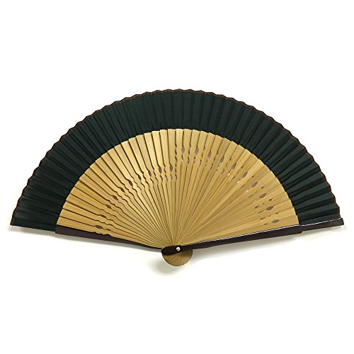 Japanese Silk folding fan /green / by sensu-ya (Image #1)
