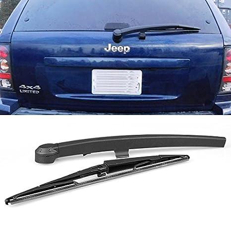 Negro Trasero Ventana Limpiaparabrisas + hoja Set Ajuste para Jeep Grand Cherokee (modelos de 2005 - 2010: Amazon.es: Coche y moto