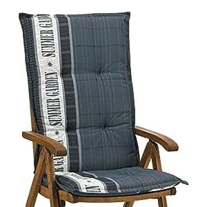 4cubiertas para respaldos 8cm de grosor 120cm de largo en gris Ibiza 40247–700(sin silla)
