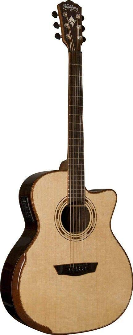 Washburn 6 String Acoustic Guitar, Right Handed, Natural (USM-WCG25SCE) by Washburn
