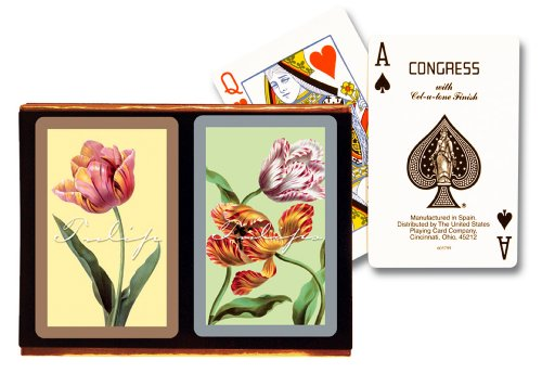 Congress Tulips Playing Cards - Standard Index (Pack of 2)