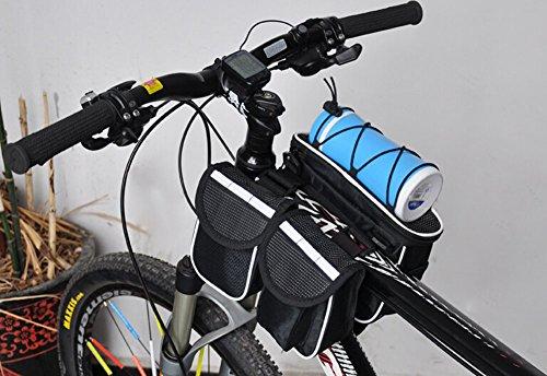 Cycling Bike Fahrradrahmen Pannier vorne Rohr Tasche Fall für Handy, Schwarz