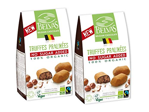 (Belvas Hazelnut Praline Truffles - No Added Sugar Dark Chocolate 3.5oz (2 Boxes))