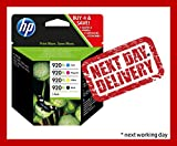 HP 920XL 4-pack High Yield Black/Cyan/Magenta/Yellow Original Ink Cartridges - Next Business Day Delivery