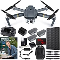 DJI Mavic Pro Quadcopter Drone Combo Pack with 4K Camera and Wi-Fi + Professional Photo & Edit Bundle