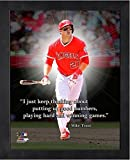 """Mike Trout Los Angeles Angels MLB Pro Quotes Photo (Size: 9"""" x 11"""") Framed"""