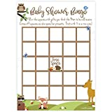 Woodland Animals Baby Shower Bingo Game Cards (50 Count)