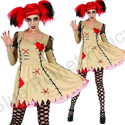 [Blue Planet Fancy Dress ? 8-14 Ladies Zombie Broken Rag Doll Costume (Women: 8-10) by Blue Planet] (Broken Rag Doll Costume)
