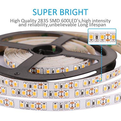 Ledmo led light strip 600 units smd2835 leds led tape warm white ledmo led light strip aloadofball Images