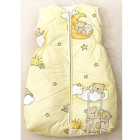 - Saco de dormir para bebé, 68 - 74 cm, amarillo Dormir oso: Amazon.es: Bebé