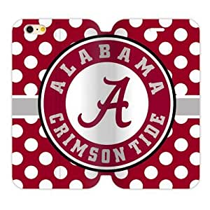 "Generic Custom Unique Design NCAA University of Alabama Crimson Tide Team Logo TPU and High Grade PU Leather Cover Case for iPhone6 4.7"" by ruishername"