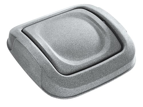 Toter 0SSD25-R1GST Swing Door Lid for 25-Gallon Square Slimline Trash Can, Graystone (Slimline Door)