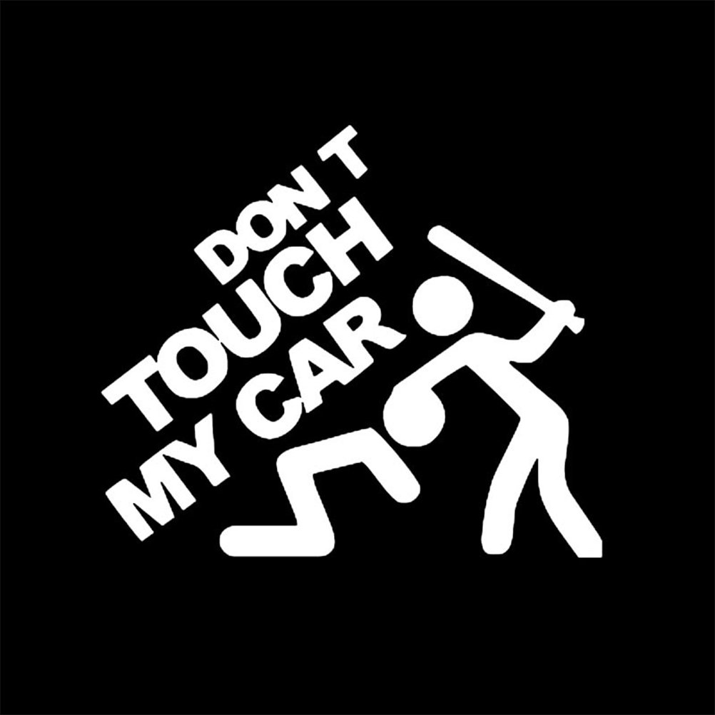 Zhhlinyuan Stable Qualité Don't Touch My Car Funny Car Sticker Waterproof Bumper Decal LY-xin-442