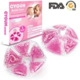 Breast Pads Decrease Engorgement Nursing Pads Encourage Let-Down Breast Ice Pack Hot/Cold Use for Nursing Mothers to Increase Milk Production Suitable for All Breast Pump by CYOUH-1 Pair