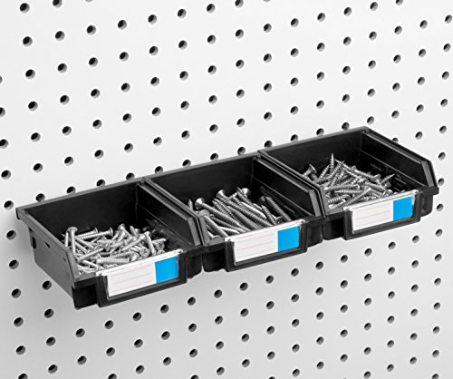 Pegboard Bins - 3 Pack - Hooks to 1/4