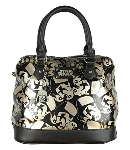 Star Wars Purse (Star Wars Trooper Dome Satchel Ladies Handbag with Metal Charm)