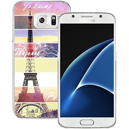 S7 Case Eiffel, Samsung Galaxy S7 Case Soft TPU Sides Paris Eiffel Tower Sales