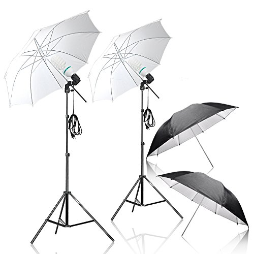 Emart Photography Umbrella Lighting Kit, 1000W 5500K Photo Portrait Continuous Reflector Lights for Camera Video Studio Shooting ()