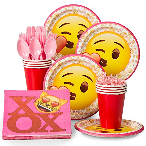 Emoji Wink Pink Tableware Kit for 8