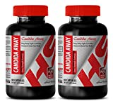 immune support booster - CANDIDA AWAY - EXTRA STRENGTH FORMULA - candida now - 2 Bottles (120 Capsules)
