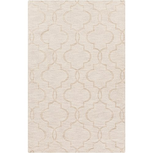 - Surya Mystique M-5179 Transitional Hand Loomed 100% Wool Winter White 2' x 3' Accent Rug