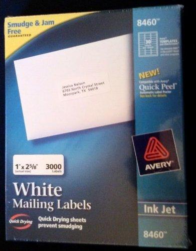 Avery Easy Peel Address Labels, Inkjet Printers, White, 1 x