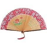 Oriental Vintage Style Folding Fan Hand Fan Foldable Handheld Fan Summer Perfect Gift, T