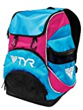 TYR Alliance Team Mini Backpack (Blue/Pink, 16.5 x 11.25 x 8.75-Inch) For Sale