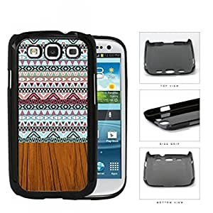 Aztec Artwork And Polished Wood Hard Plastic Snap On Cell Phone Case Samsung Galaxy S3 SIII I9300