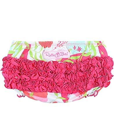 RuffleButts Infant / Toddler Girls Knit Ruffled Bloomer - Sweet Stems - 12-18m - 13 Stems