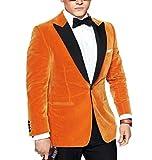 Peak Lapel Gold Velvet Men Coat Blazer Prom Dress