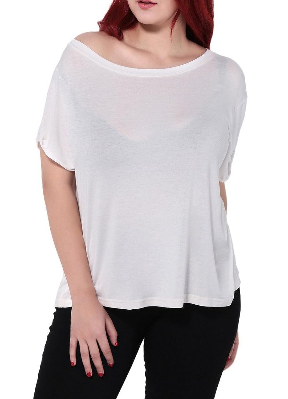 Smile YKK Women Summer Loose Short Sleeve Shirt Blouse Tees Tops