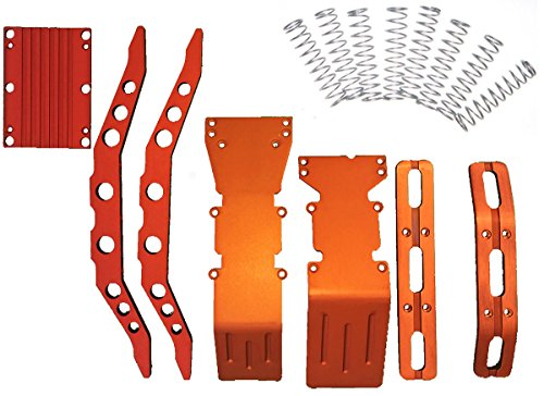 RC Raven E-Maxx, 3903, 3905 or 3908 Orange anodized aluminum package super deal with free dual rate shock springs