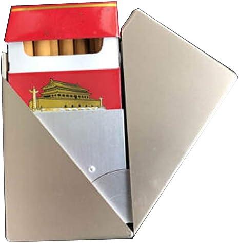 YXZN Caso De Cigarrillo A Prueba De Humedad Y La Compresión Línea Inclinada Dumpling Cigarrillos Caja Puede Acomodar 20,Gold,60X93X28MM: Amazon.es: Deportes y aire libre