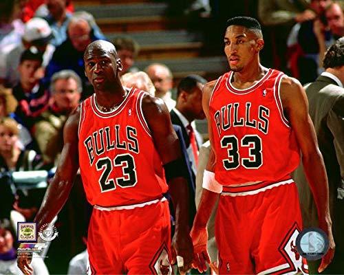 Michael Jordan & Scottie Pippen Chicago Bulls NBA Photo (Size: 8