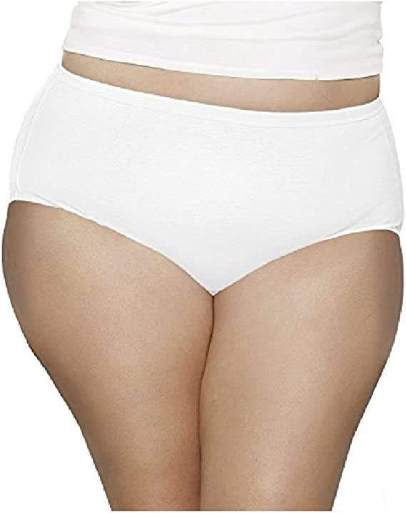 NWT Fruit of the Loom Fit For Me Plus Size Nylon Hi-Cut Panties 4 Pack size 12
