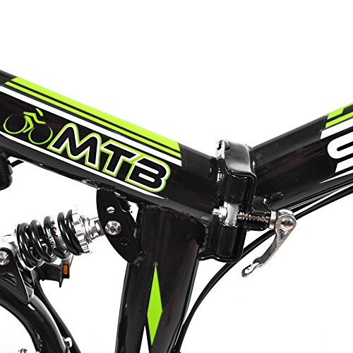 Stowabike 26'' MTB V2 Folding Dual Suspension 18 Speed Shimano Gears Mountain Bike Black by Stowabike (Image #2)