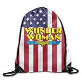 IYaYa Super Woman 75 Anniversary Drawstring Backpack Travel Bag