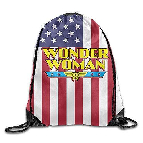 IYaYa Super Woman 75 Anniversary Drawstring Backpack Travel Bag