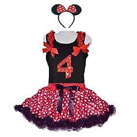 - 51x8jpkICKL - Red/White Polka Dots Costumes for Birthday Party-Tutu w/Tank Top & Headband