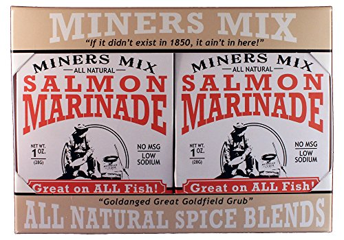 Miners Mix Not Just For Salmon Gourmet Grilling Marinade Mix 4 Pack is Perfect for All Fish from Albacore to Wahoo