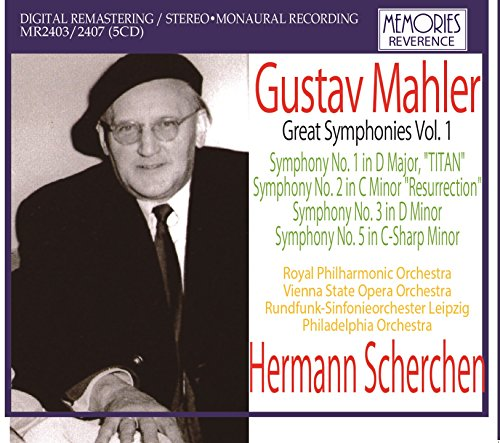 Scherchen Conducts Mahler Vol.1': Symphonies 1 (Royal Philharmonic. Studio Recording - Studio 5 London